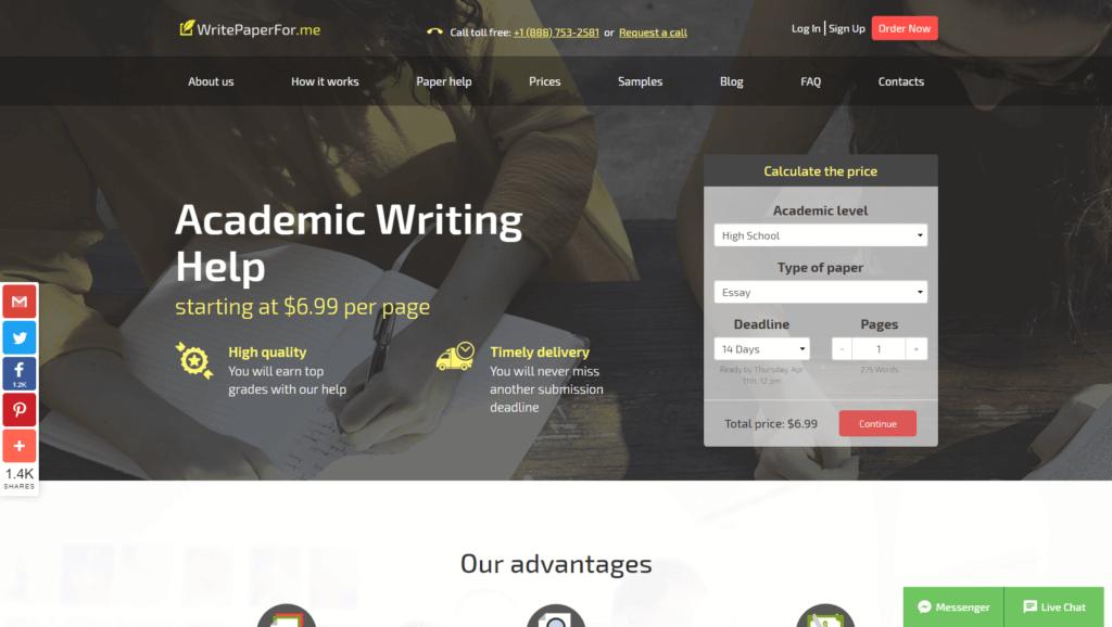 writepaperforme homepage review