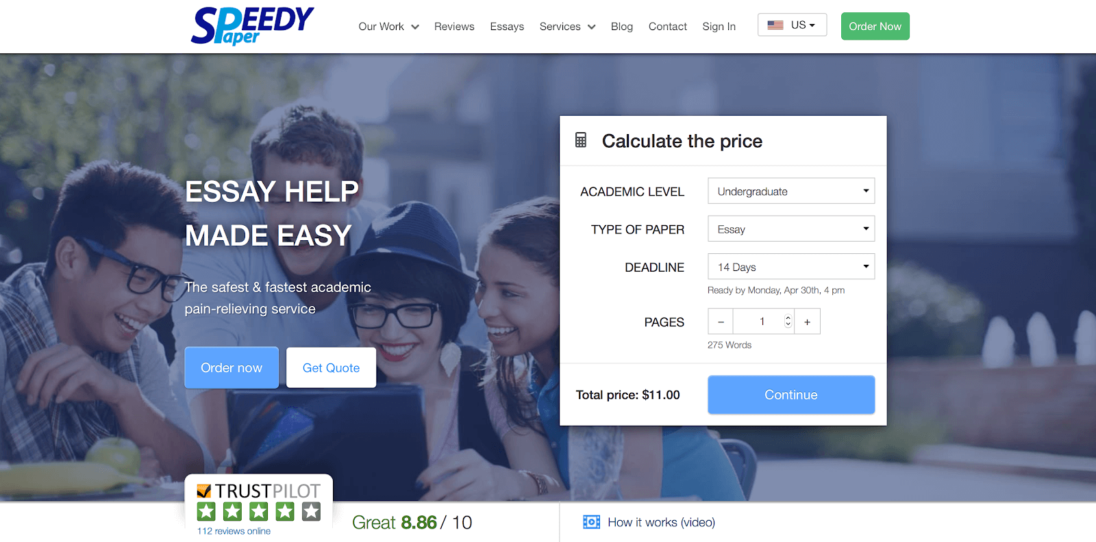 speedypaper home page
