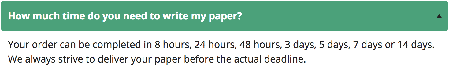 how much time do you need to write my paper