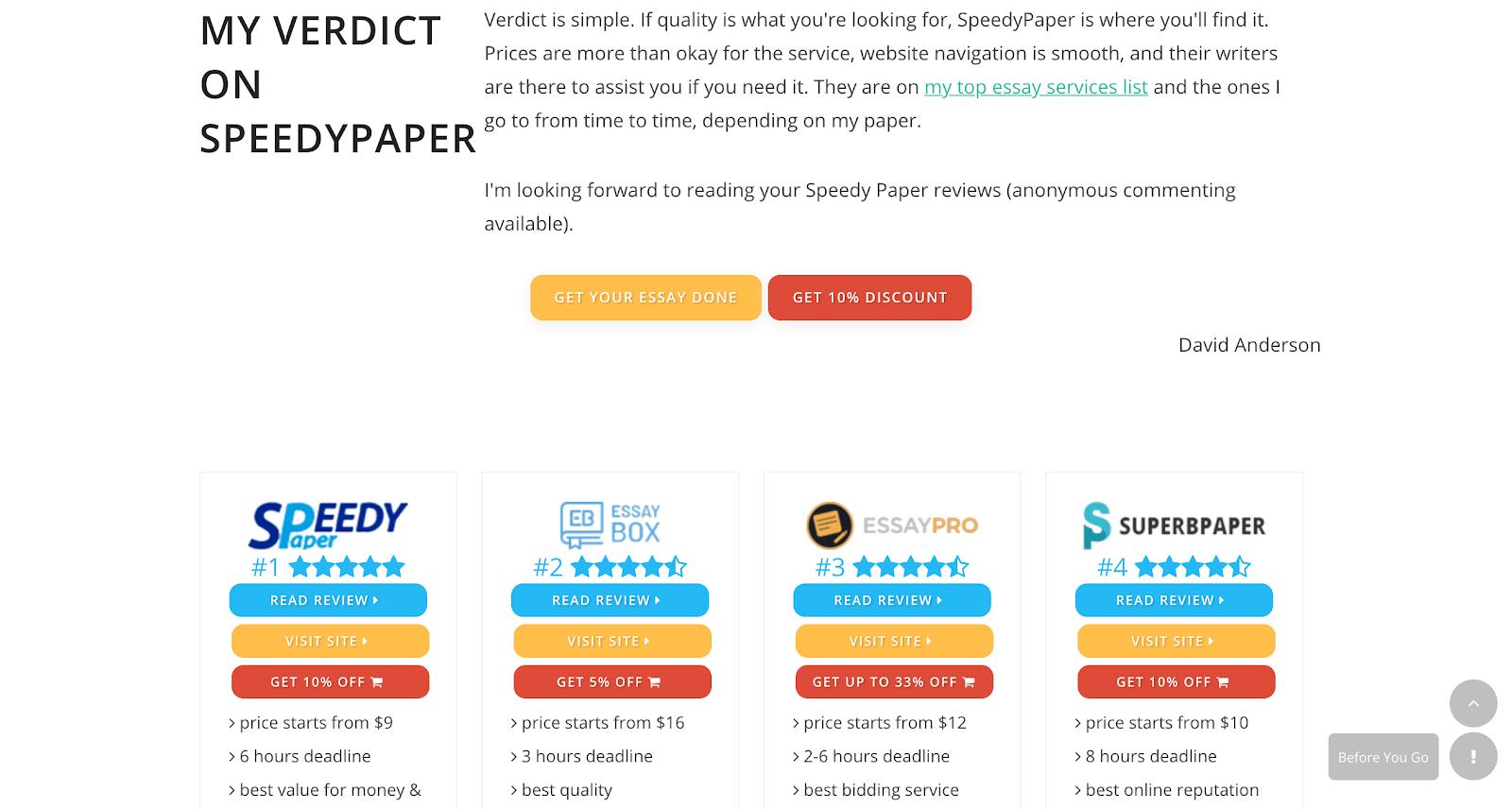 speedy paper reviews at ihatewritingessays
