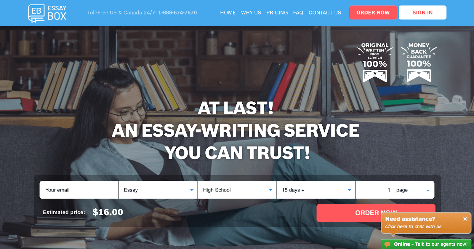 essaybox home page