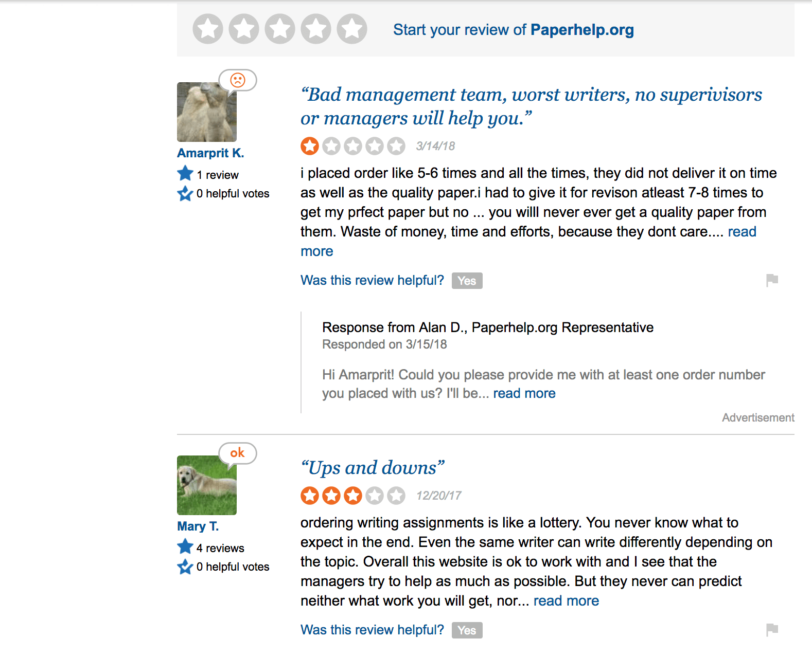 paperhelp review at sitejabber