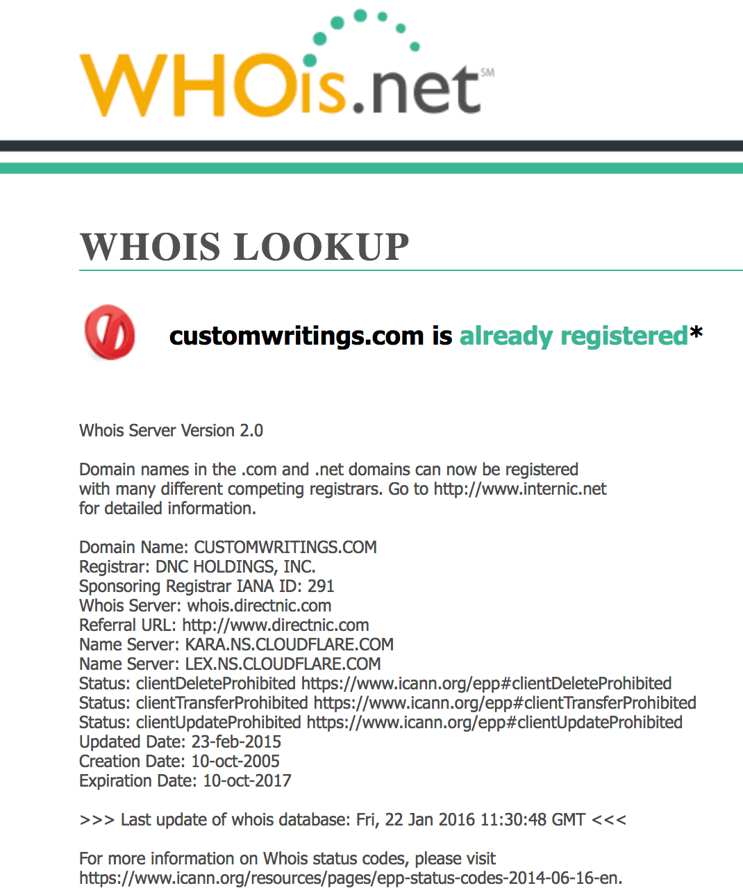 Customwritings.com whois lookup