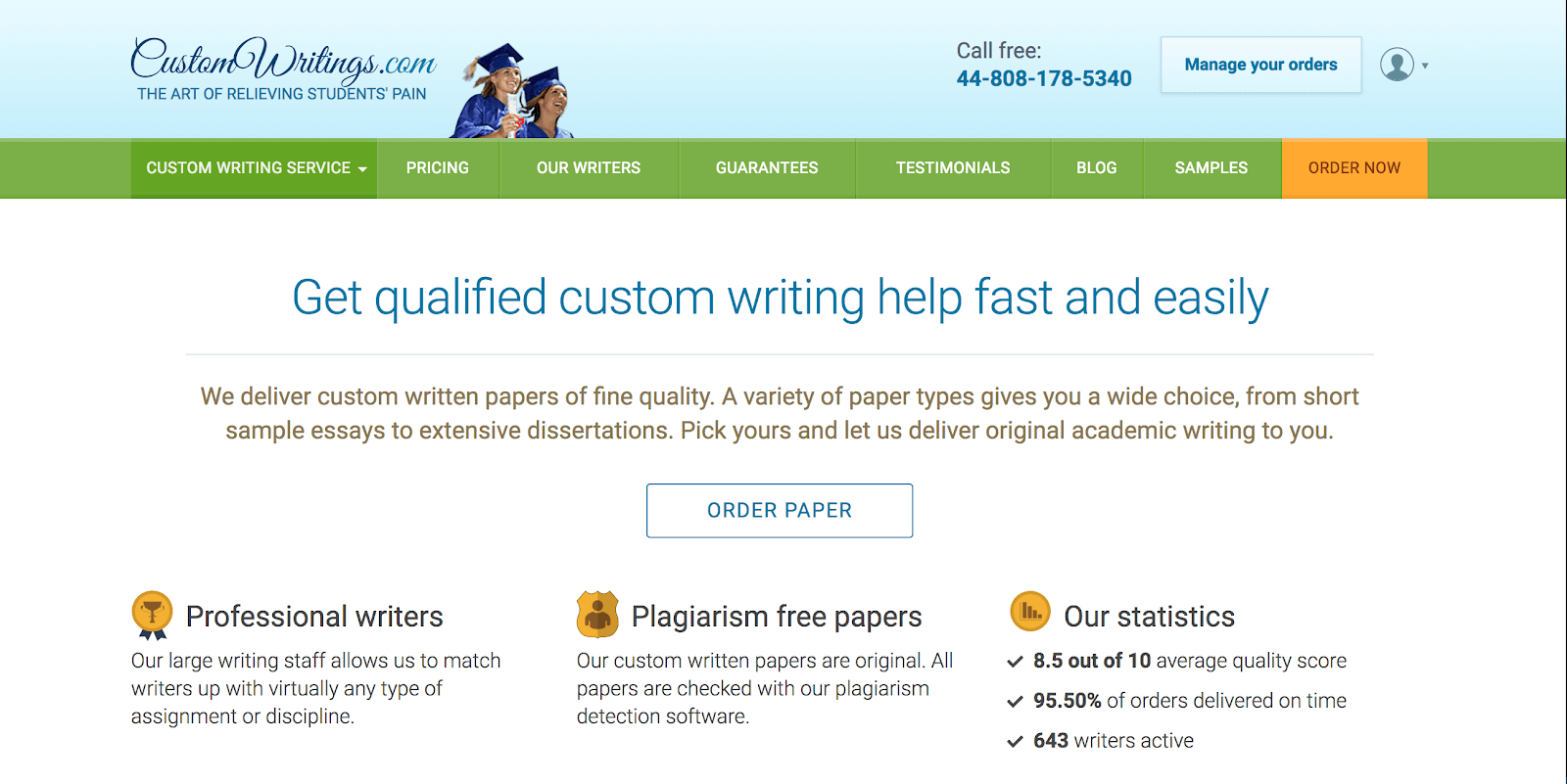 Custo m writings order