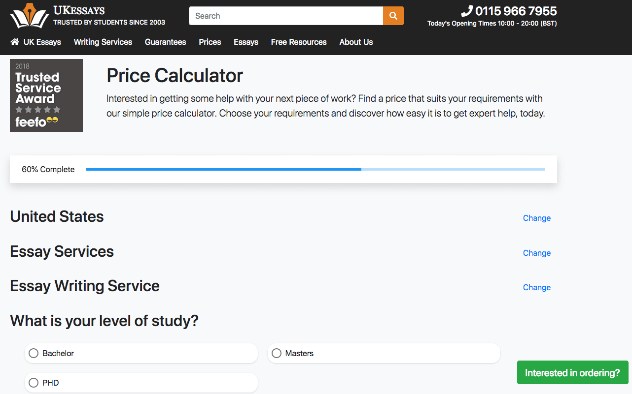 uk essays price calculator