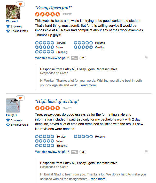 essaytigers reviews at trustpilot