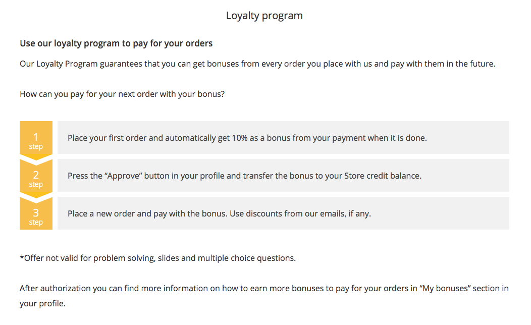 essaytigers loyalty program