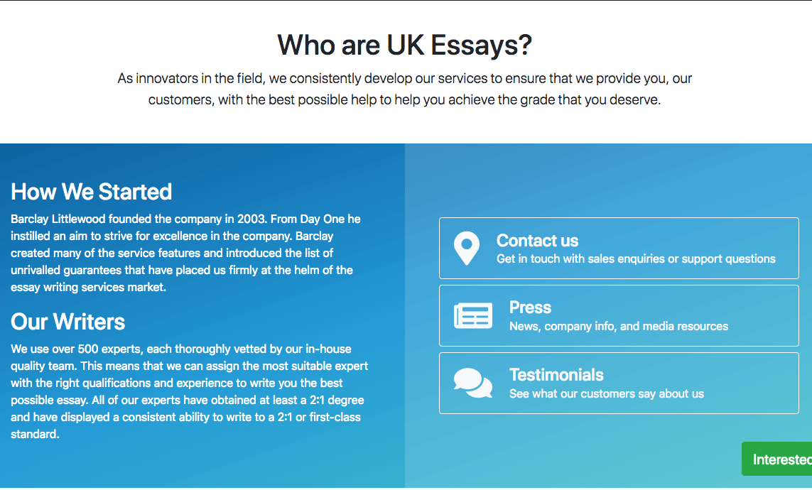 How To Get The Best Uk Essays Check This Page Ukessays About Us Page Persuasive Essay Sample High School also High School Admissions Essay  From Thesis To Essay Writing