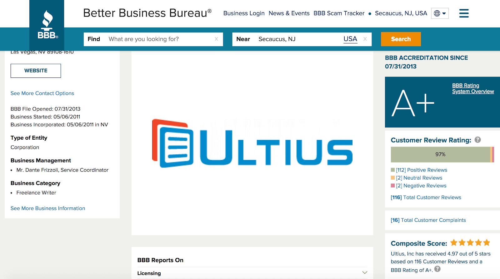 Ultius company