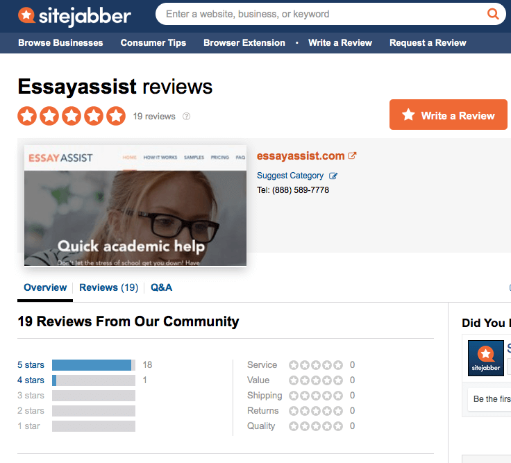 essayassist.com sitejabber review