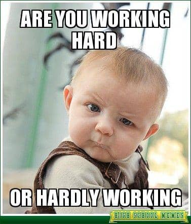 are you working hard