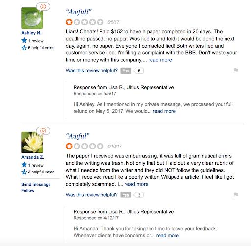 sitejabber ultius.com review 2