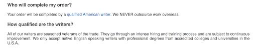 Writer's proficiency