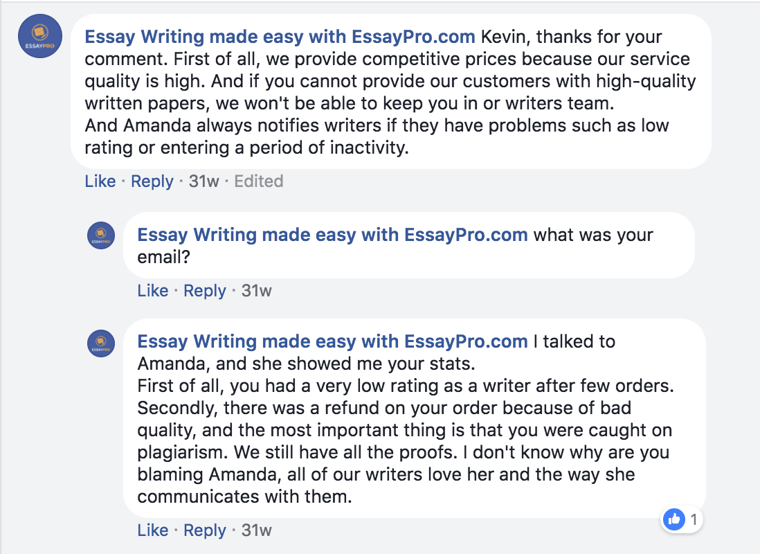 EssayPro discussion with a former writer 2
