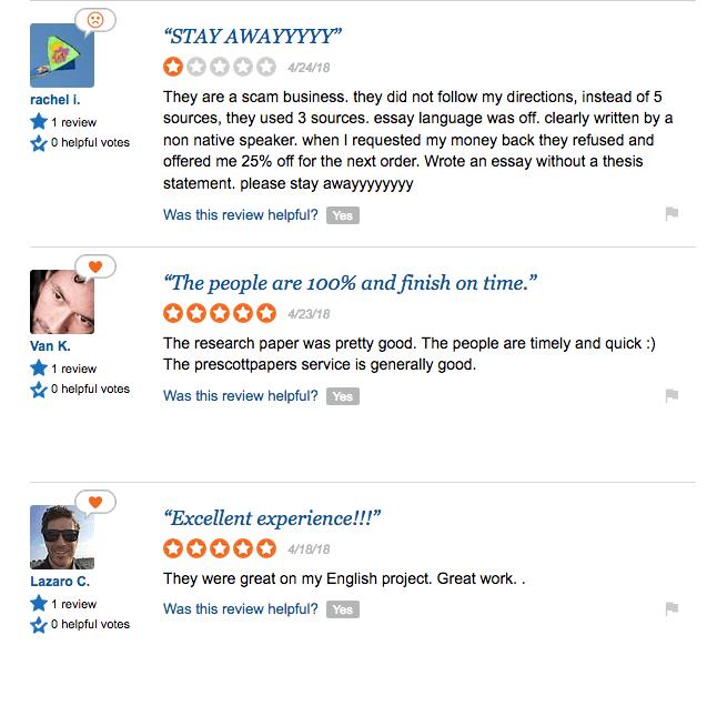 sitejabber reviews about prescott papers