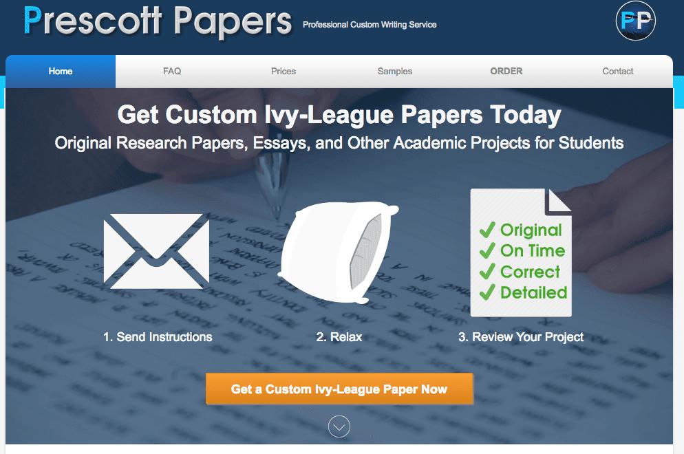 prescott papers homepage