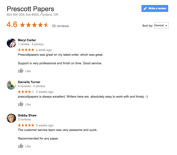 prescott papers reviews