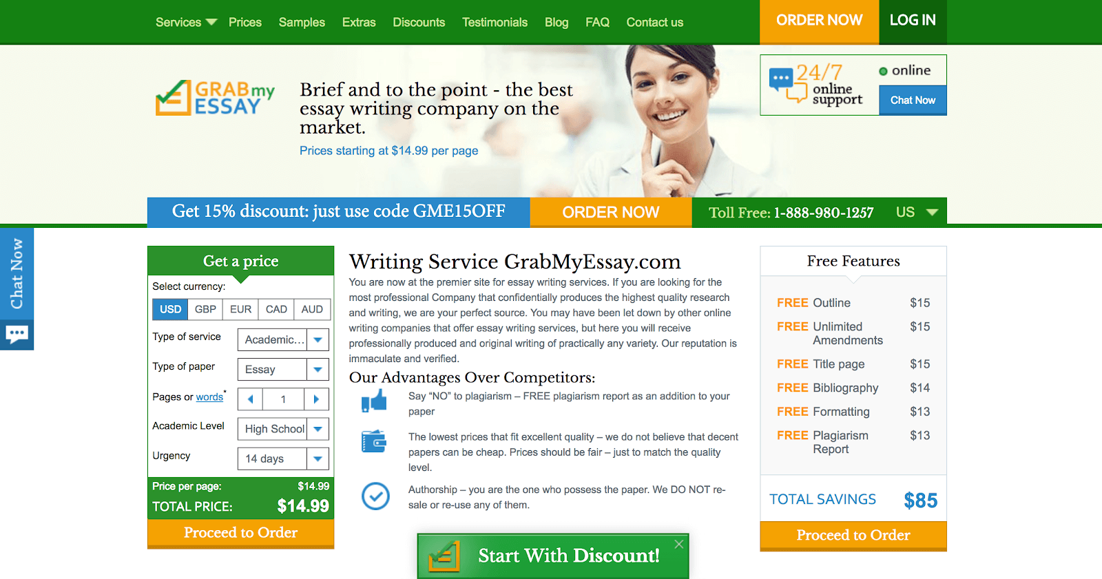 grabmyessay home page review