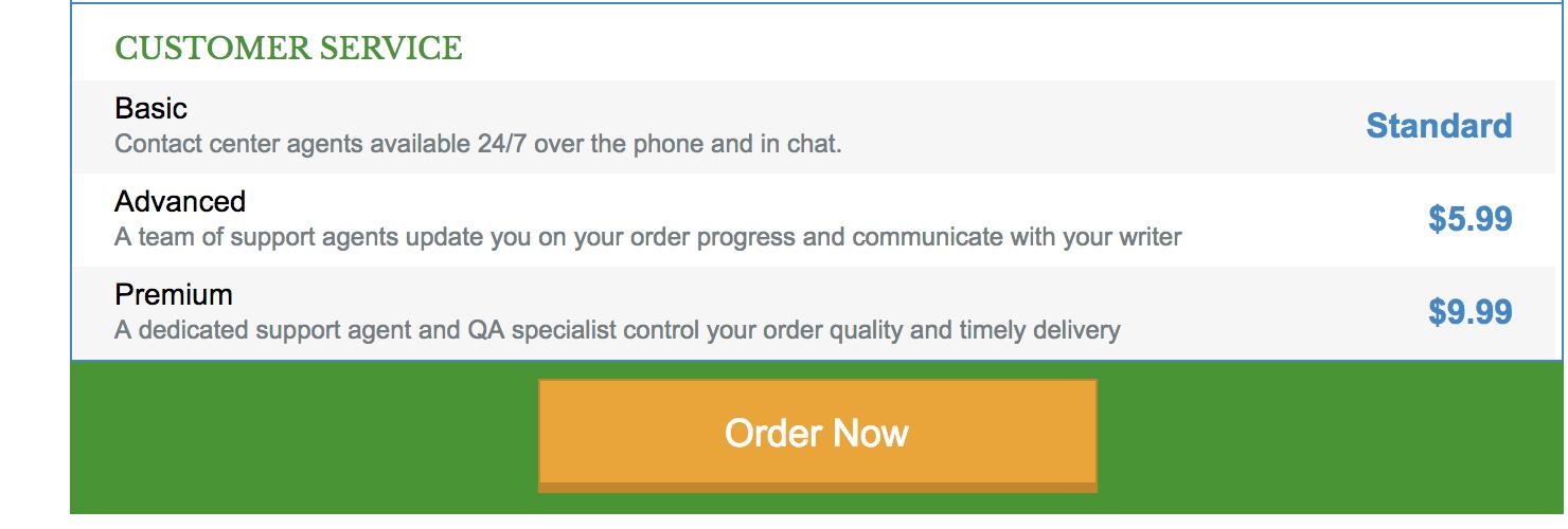 customer service grabmyessay