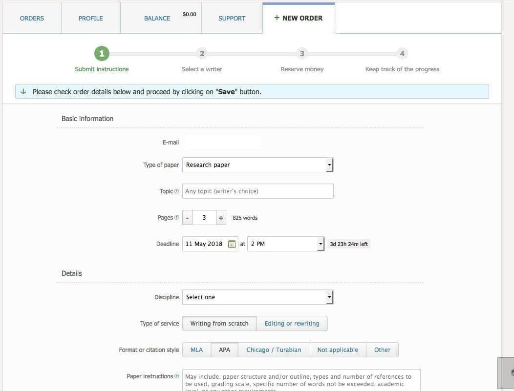 bid4papers order form