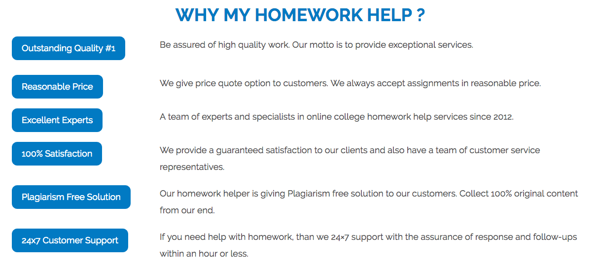 benefits of using myhomework help